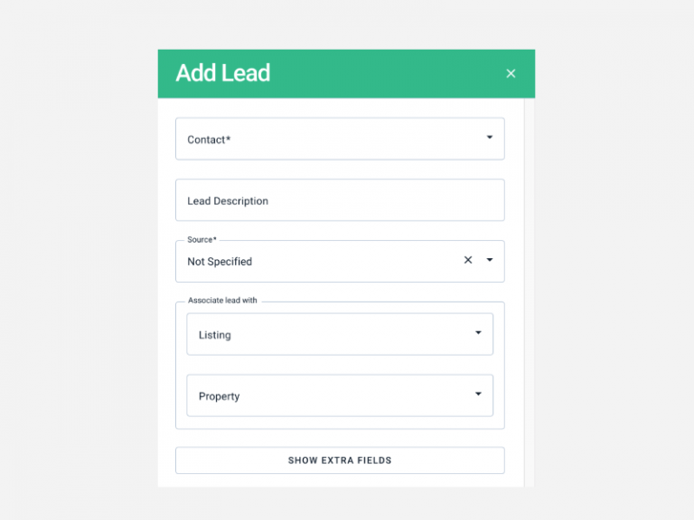New Add Lead form